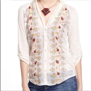 Anthropologie Tiny Naima Embroidered Top